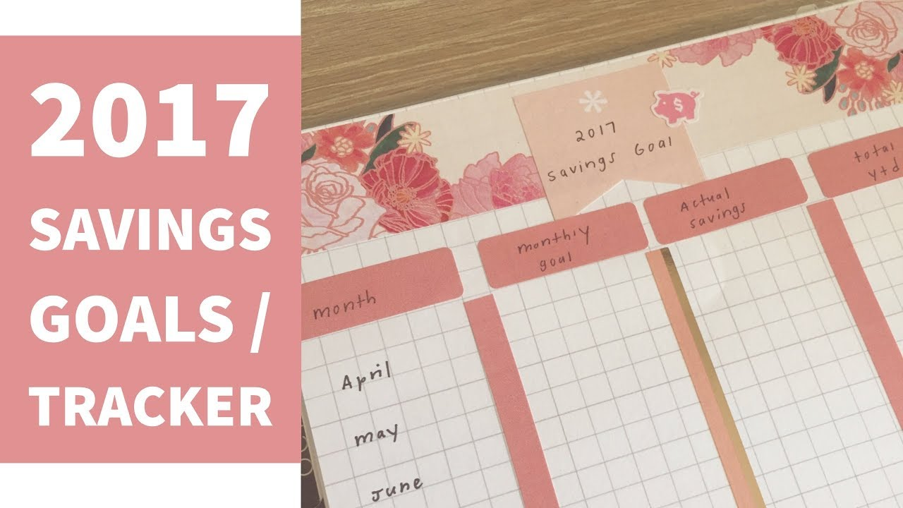 savings goals tracker 2017 youtube