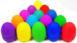 learn colors play doh kinder surprise eggs hello kitty disney frozen doraemon