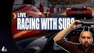 RACING SUBSCRIBERS IN THE BEST SIMS - ASSETTO CORSA & PROJECT CARS 2