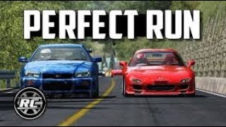 A Perfect run at Akina downhill - RX7 vs GTR vs Miata Assetto Corsa ⭐ Eurobeat ⭐