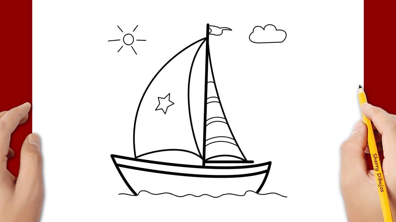 Cómo Dibujar Un Barco Youtube