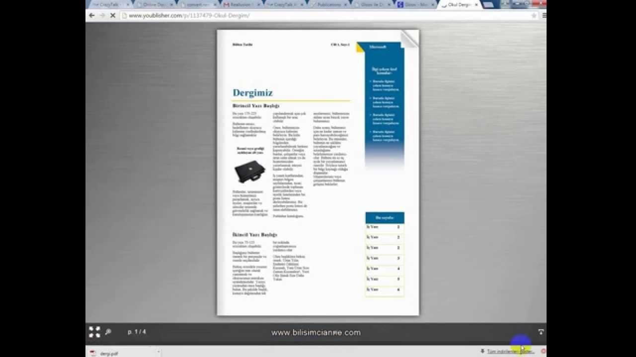 Publisher ile e-dergi (elektronik- online dergi) yapımı