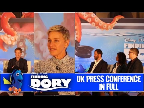 Finding Dory UK Press Conference In Full (2016) Ellen Degeneres (HD)