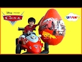 NEW Disney Cars Toys GIANT EGG SURPRISE OPENING Lightning McQueen Tow Mater Kids Video With TBTFUNTV