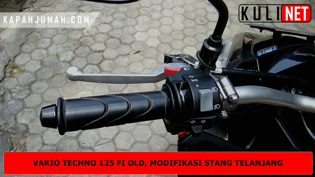 Modifikasi Stang Vario Techno 125 FI Old Dengan Beat Street YouTube