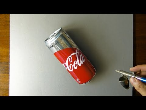 DRAWING COCA-COLA - How To Draw 3D Art