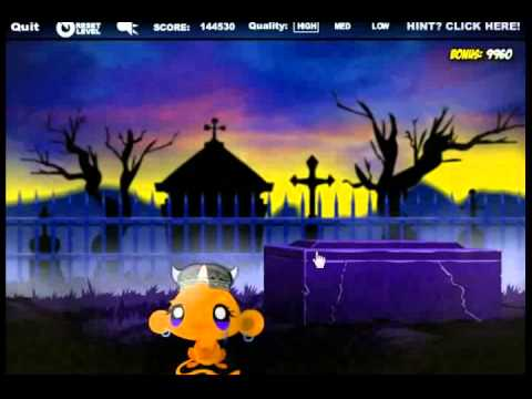 Онлайн игра квест Марафон счастья обезьянки играть в