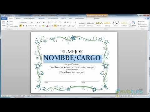 Como crear un Diploma en Word 2010 de YouTube · Duración:  1 minutos 52 segundos