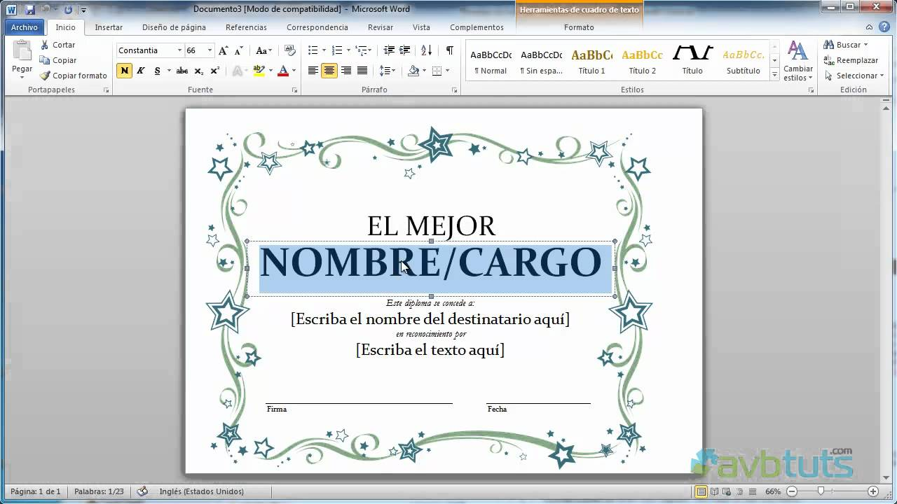 Como crear un Diploma en Word 2010 - YouTube
