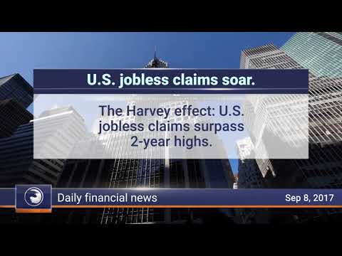 Daily Market Review, September 8th 2017: US jobless claims soar