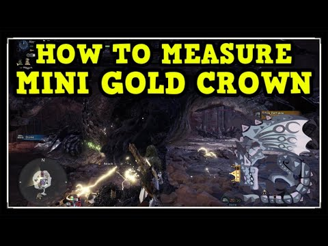 MHW Iceborne Silver Rathalos Mini Gold Crown (How To Measure Gold Crown Guide)