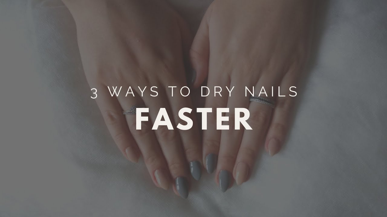 How To Dry Nails Quickly ll Hacks - YouTube