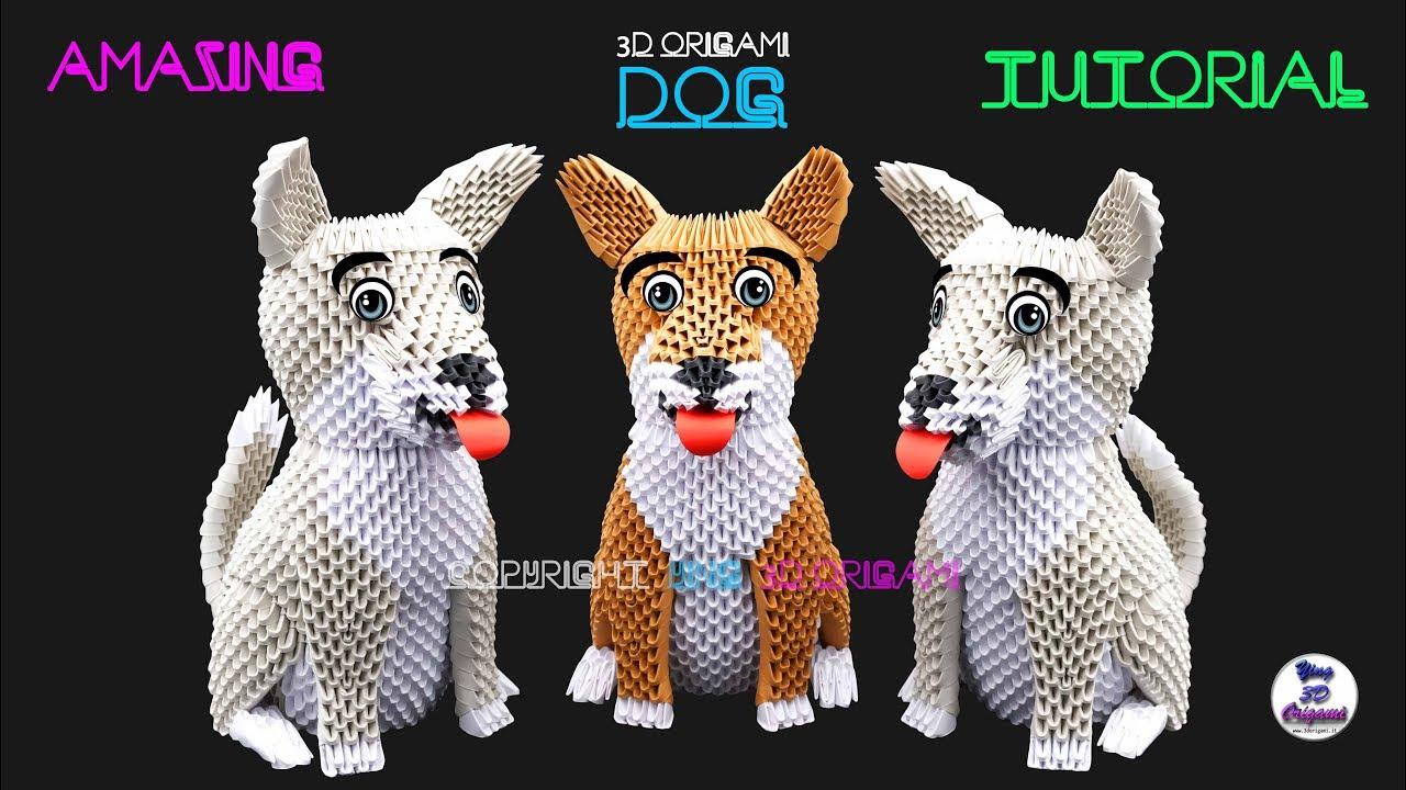 Mini chouette, mini owl origami 3d - YouTube | 720x1280