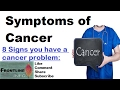 Symptoms of Cancer | कैंसर के लक्षण  [Hindi] Signs of cancer