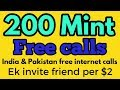 How to get free 200 mint &  free internet calls mint Daily Earn new tricks in Hindi