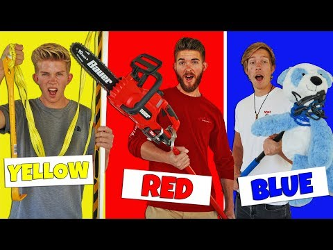 Using Only ONE COLOR to Build Apocalypse SURVIVAL WEAPONS!