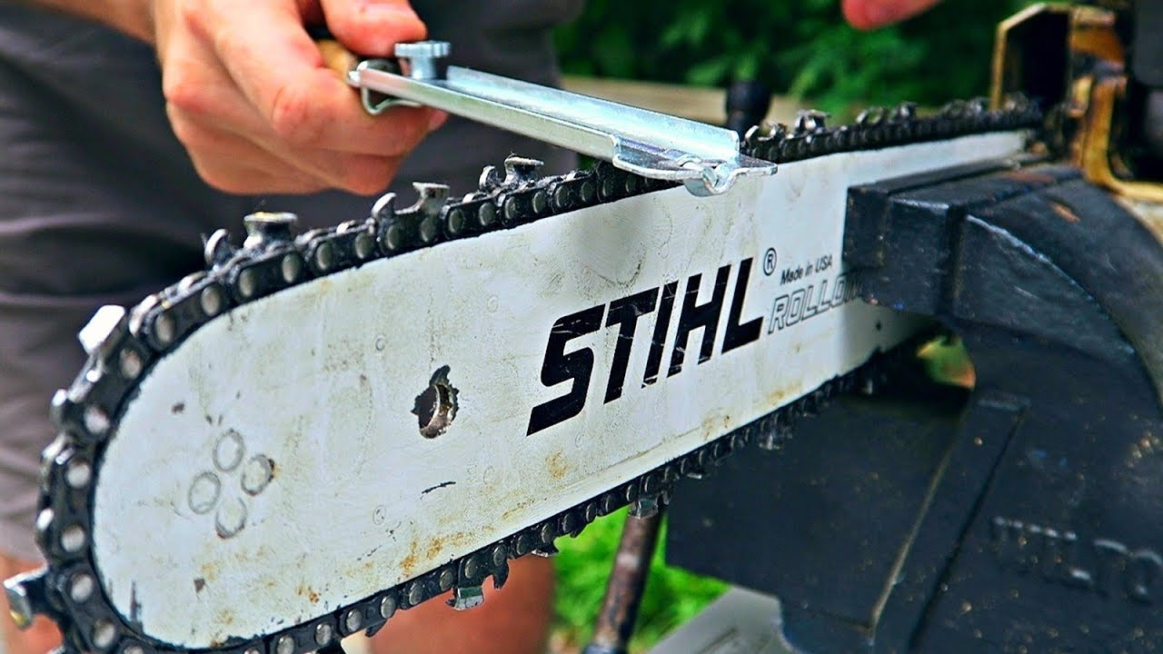 How to Sharpen a Chainsaw  YouTube