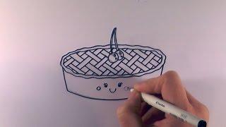 How to Draw a Cartoon Cherry Pie
