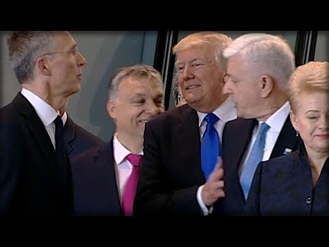 EVERYONE FREAKED WHEN THEY SAW WHAT TRUMP DID RIGHT AFTER SHOVING WORLD LEADER AT NATO TODAY