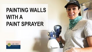 Painting Walls with a Paint Sprayer