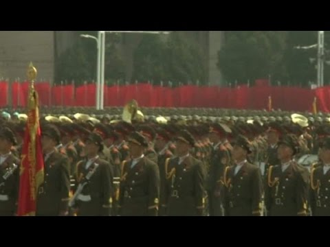 North Korea celebrates holiday with parade