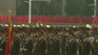 North Korea celebrates holiday with parade