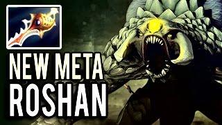 HOW TO EZ WIN DOTA 2 Playing AS ROSHAN Patch 7.04 New Meta