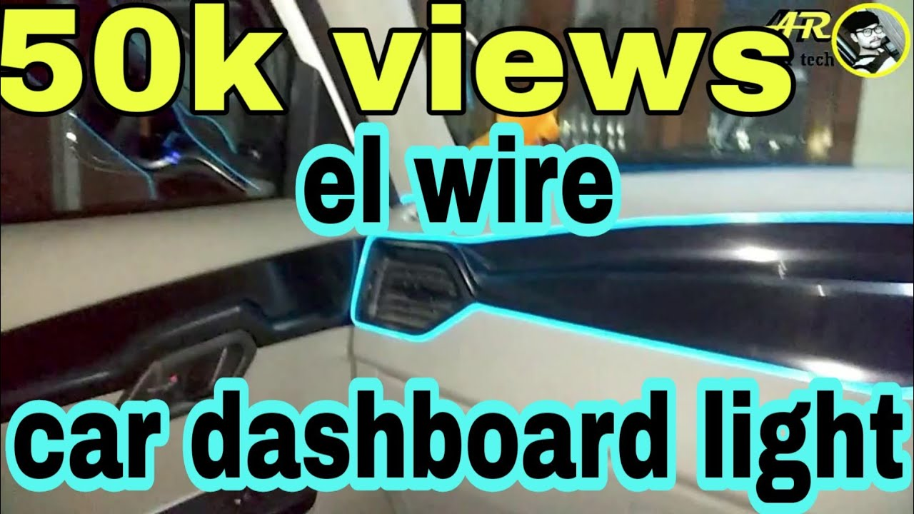 car dashboard el wire light ice blue kuv 100 full information part 2 youtube. Black Bedroom Furniture Sets. Home Design Ideas