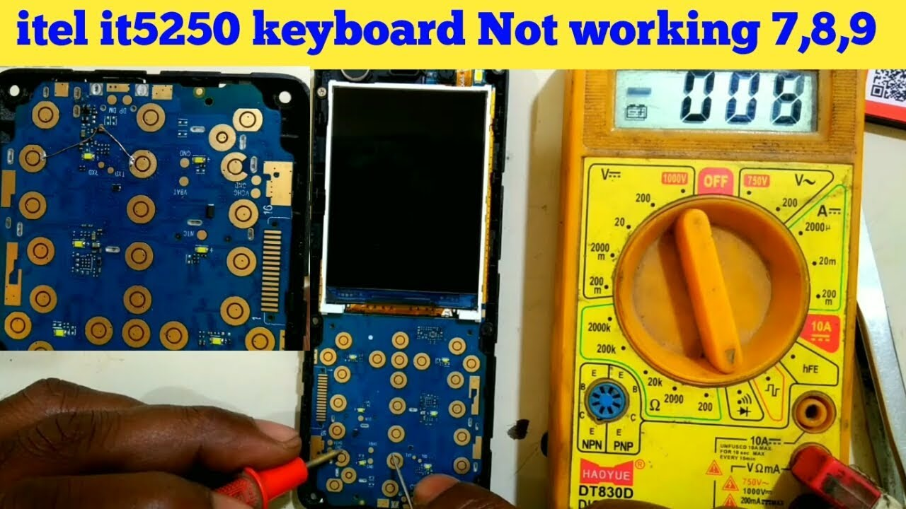 itel it5250 keypad not working !! All China Mobile Keypad Solution