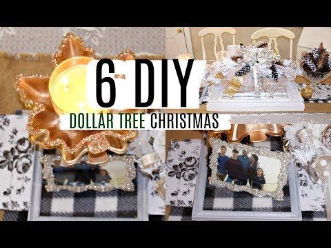 🎄6 DIY DOLLAR TREE CHRISTMAS CRAFTS 🎄 DECO MESH CENTERPIECE NEUTRALS