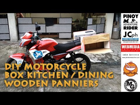 DIY Wooden Motorcycle Kitchen/ Dining Panniers ~ Royal Purple Oils