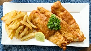 How To Make Fish And Chips | Homemade Fish And Chips Recipe | Crispy Fish And Ch