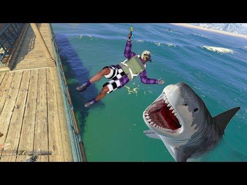 Playing As A SHARK ONLINE! | GTA 5 THUG LIFE #271