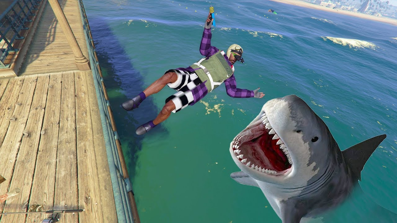 Playing As A SHARK ONLINE! | GTA 5 THUG LIFE #271 thumbnail