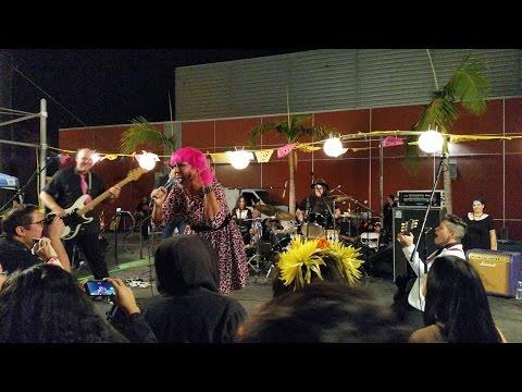 Alice Bag performing on Día de los Muertos, in Boyle Heights