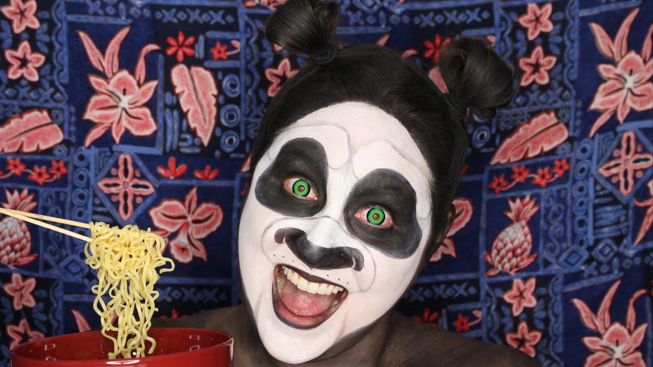Kung Fu Panda Face Paint Tutorial - YouTube