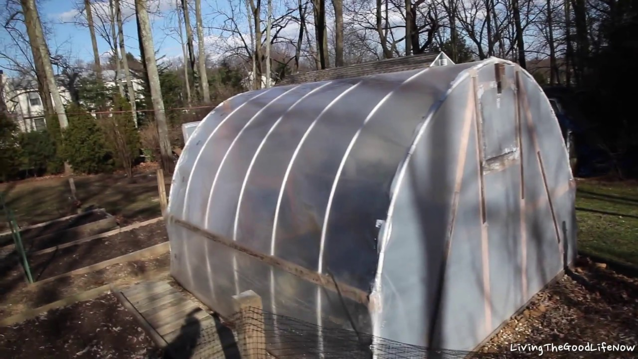 1 Year Later Homemade Greenhouse Hoop House High Tunnel