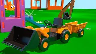 Kid's 3D Construction 6: Build a LOADER demo - Learn to Count! [건설, 자동차, 트랙터, 시멘트 트럭]