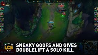 Sneaky Goofs and Gives Doublelift a Solo Kill