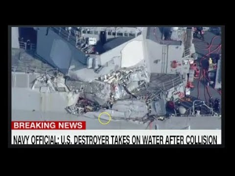 U.S. Navy Destroyer USS Fitzgerald Taking On Water After Collision Off Coast Of Japan