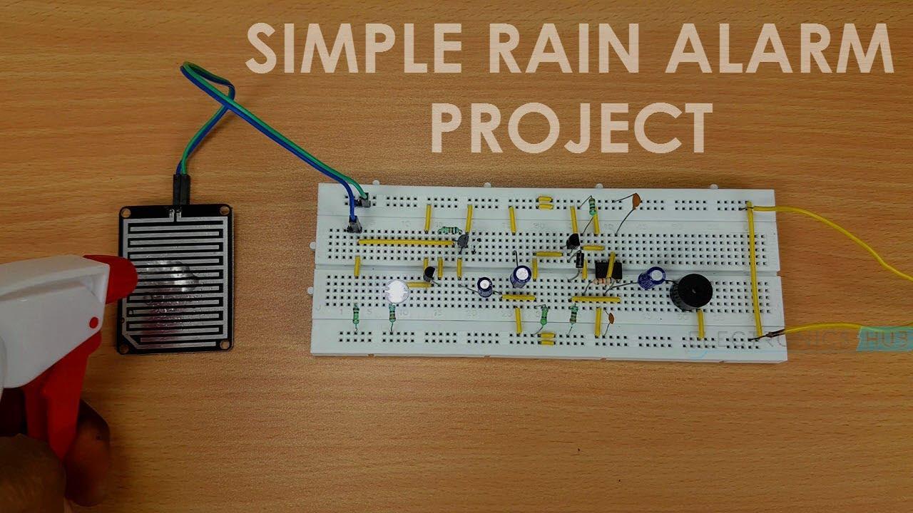 How To Make A Rain Alarm Project Youtube Schematic Of Sensor Circuit