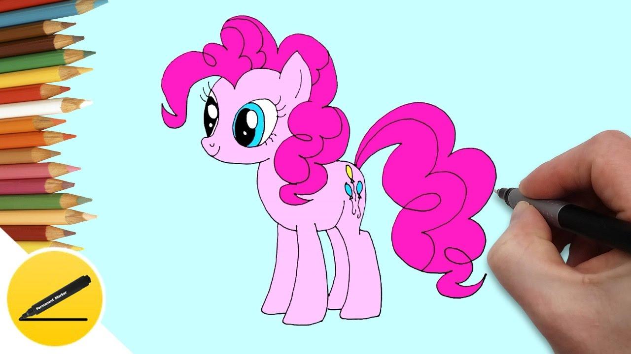 How To Draw Pony Pinkie Pie Step By Step Draw A Pony Pinkie Pie Pictures