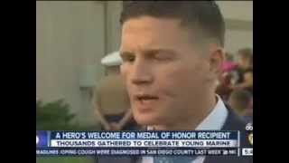KGTV coverage of 3rd MAW evening colors ceremony June 23