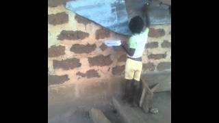 Ajoke the 7 years old Girl drawing the map of Nige
