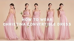 How to Wear Convertible Tulle Bridesmaid Dress | Christina Dress by BIRDY GREY