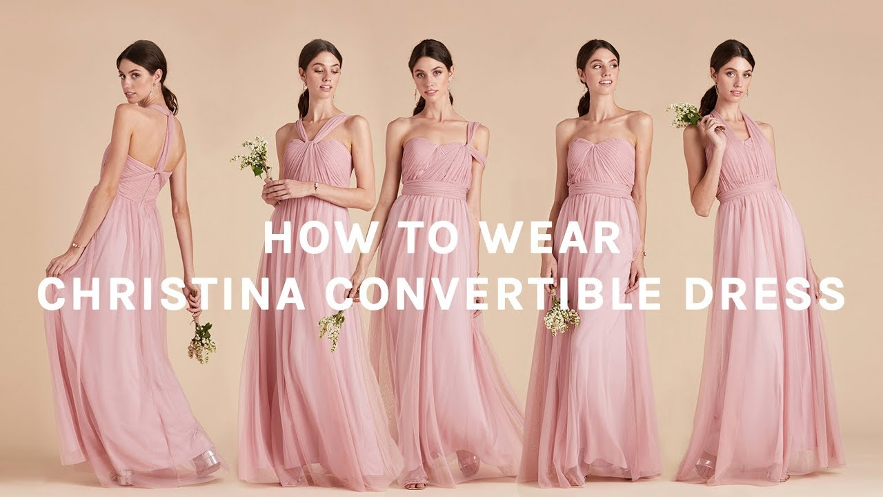 ce3fcadafd How to Wear Convertible Tulle Bridesmaid Dress | Christina Dress by BIRDY  GREY