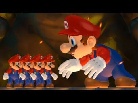 New Super Mario Bros Wii - Multiple Marios VS Giant Mario