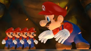 New Super Mario Bros Wii - Multiple Marios VS Giant Mario