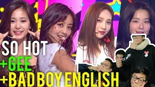 "TWICE ""SO HOT"" & RED VELVET ""GEE"" / BAD BOY ENGLISH (Reaction)"