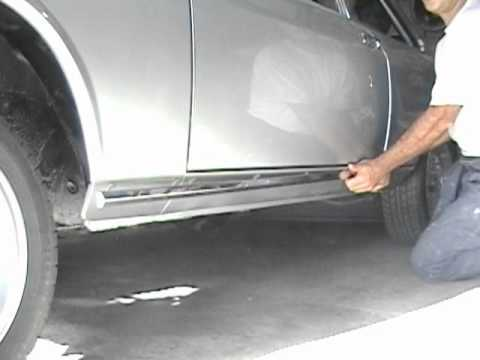 how to , rocker panel trim removal